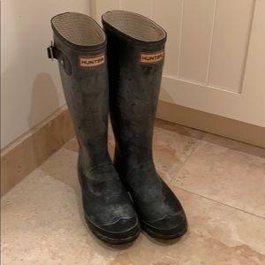 Hunter original tall  boots woman's 9🦆